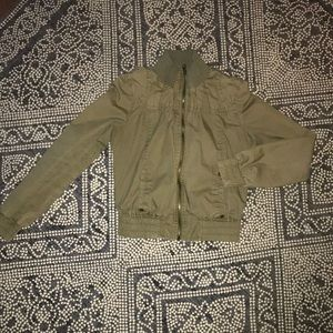 Olive green cropped jacket